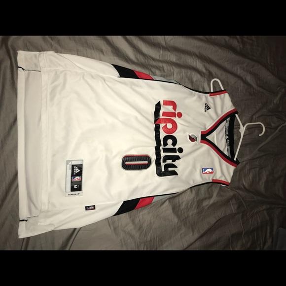 5aaae49b9 adidas Other - Damien Lillard Trailblazers Rip City Jersey